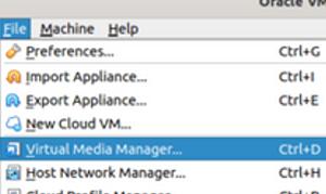 VirtuaBox Virtual Media Manager